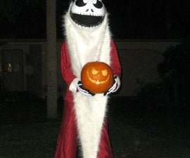 Home Made Santa Jack Skellington from Nightmare Before Christmas
