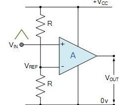 Op-amp Comparator Circuit Driving a MOSFET