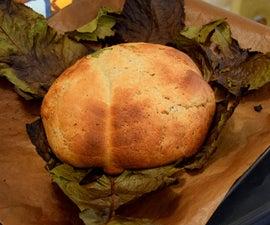 Bread in Horseradish Leaves (Polish Traditional Bread)