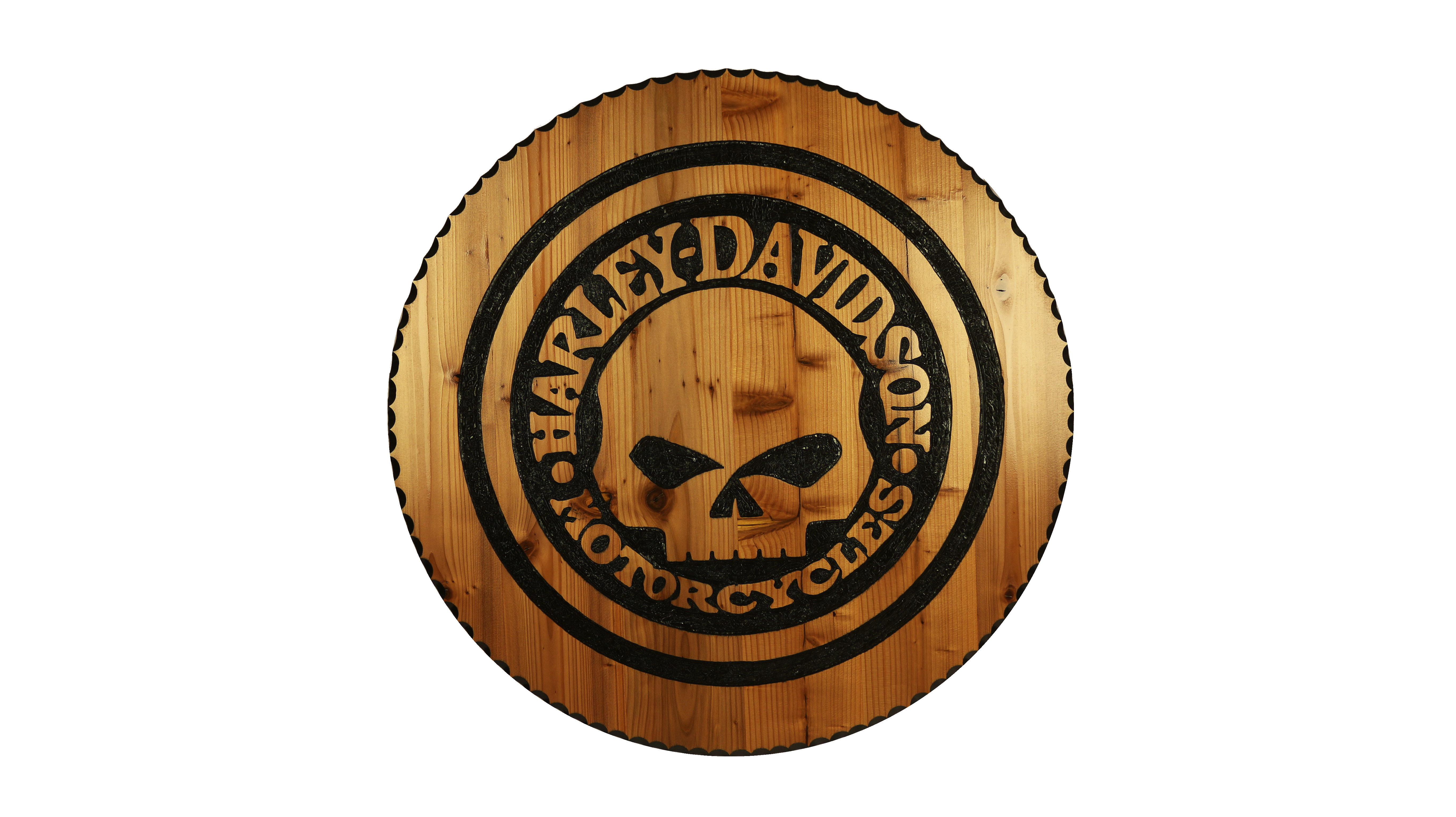 Picture of Wooden Harley Davidson Sign