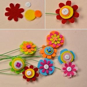 Make the Rest Part of the Felt Flower Bouquet