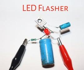 How to Make LED Flasher Circuit Using BD139 Transistor