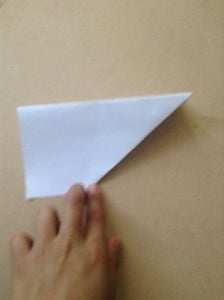 Bend Wings Down Parallel to Side and Small Triangle