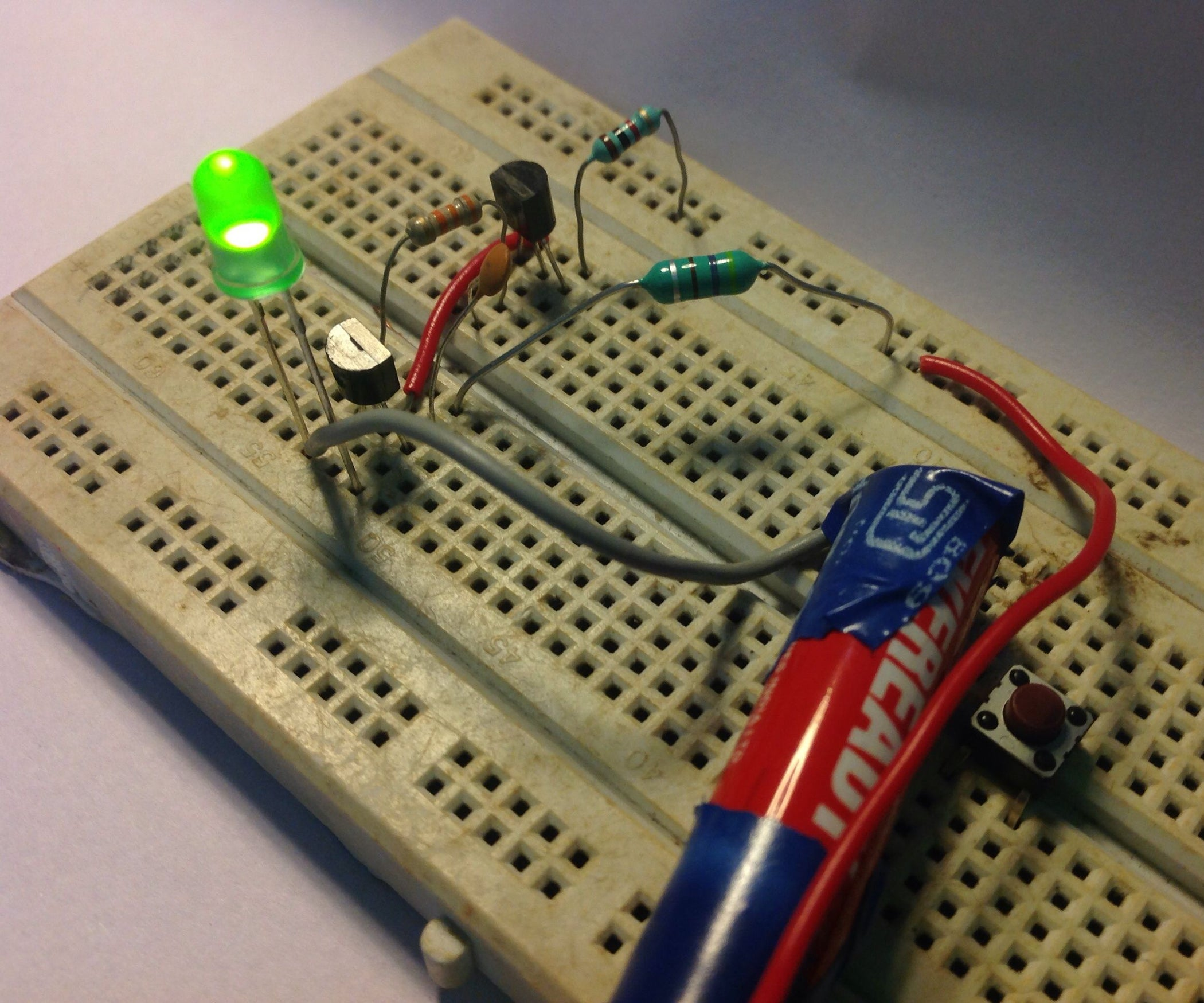 Super Simple Inductor Joule Thief 5 Steps With Pictures Watt Led Driver Using A Circuit Homemade
