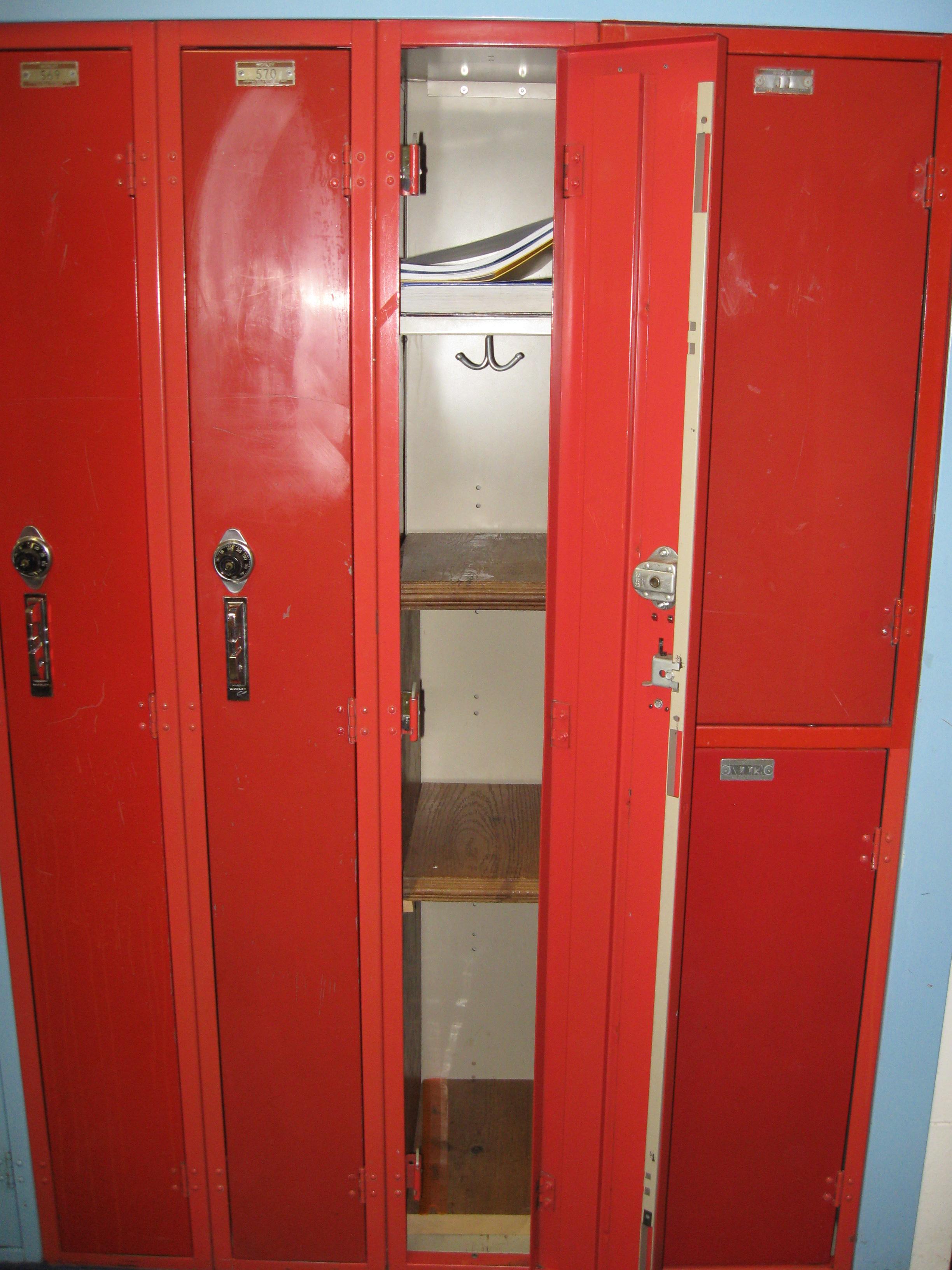 Wooden Locker Shelf 4 Steps