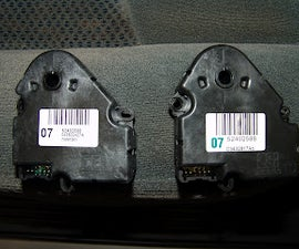 How to Remove Driverside/passanger Side Temp Controll Actuators in 04 Chevy Siverado