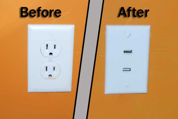 Picture of Outlets of the Future   Aka   In-wall USB Charger