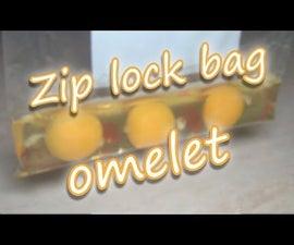 Omelet in Zip Lock Bag