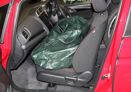 Gear Fits on the Front Passenger Seat