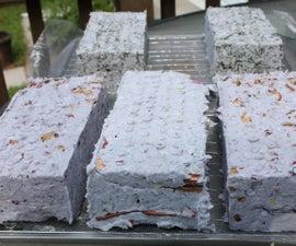 Alternative Mixed Media Sun Dried Paper Briquettes