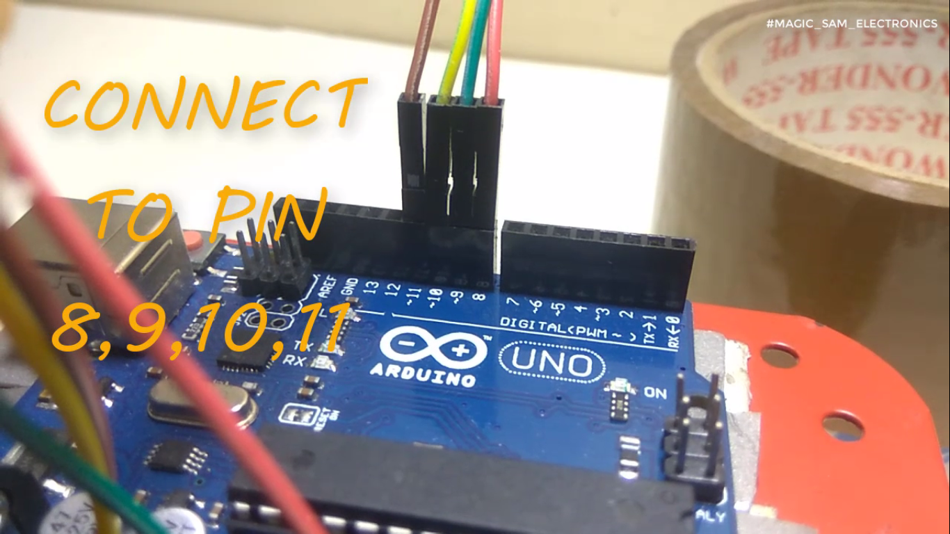 Picture of CONNECT MOTOR DRIVER TO ARDUINO