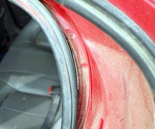 An easy and permanent fix for older car door seals.