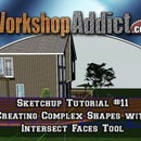 sketchup tutorial #11 --- Creating complex shapes with intersect faces tool