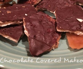 Chocolate Covered Matzo