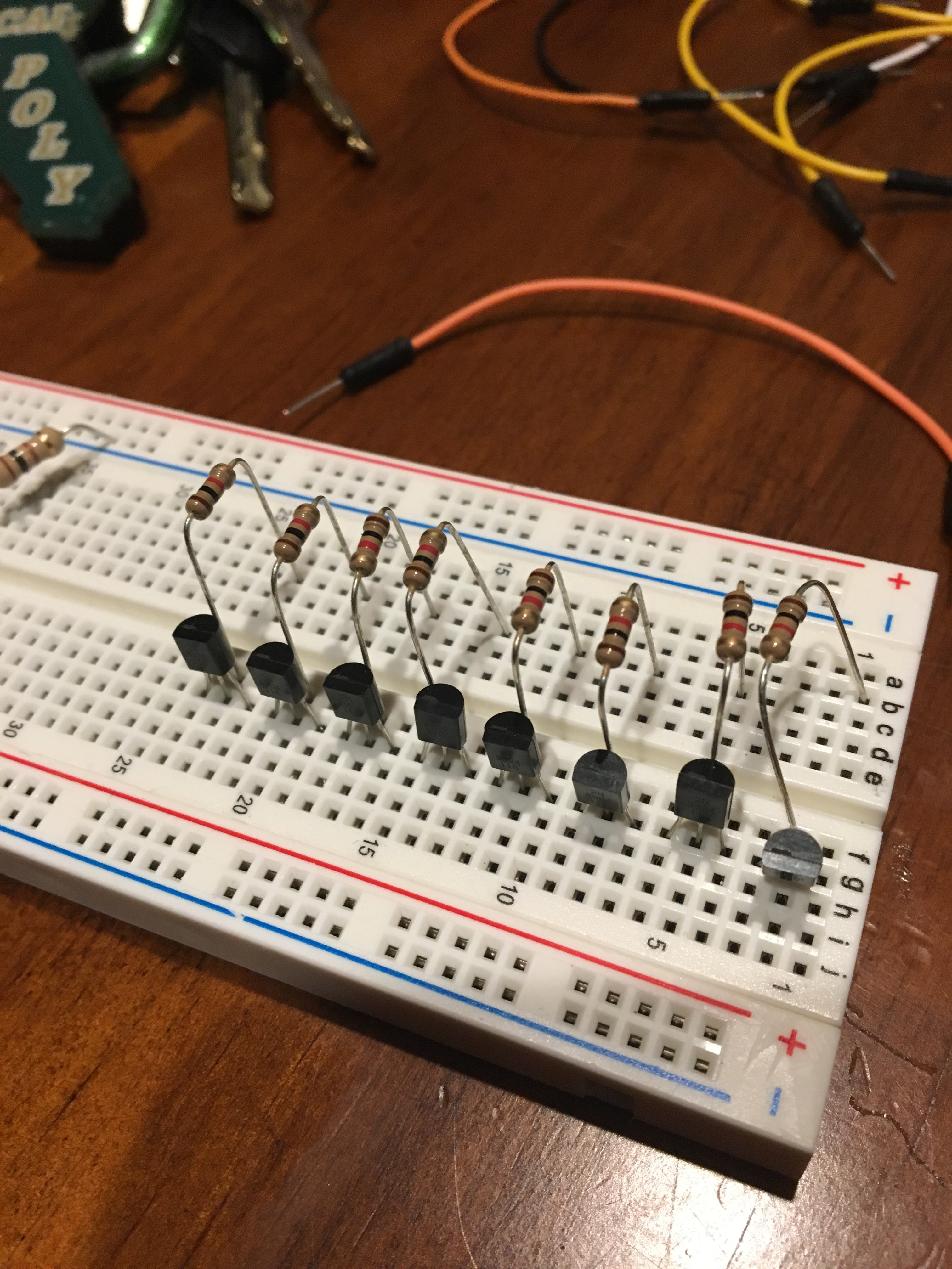Picture of Step 1: Connecting the Transistors