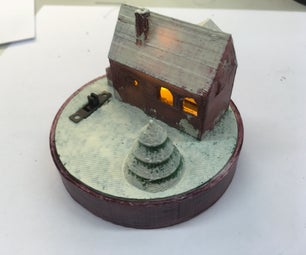 3Dprinted Christmas House With Light (TfCD)