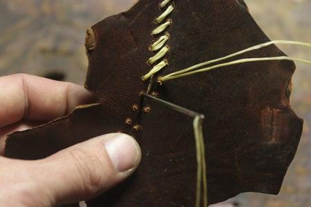 Trace Cuts...Drill Holes...Hand Sew