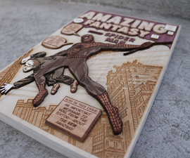 How to Make a 3D Wood Veneer Comic Cover