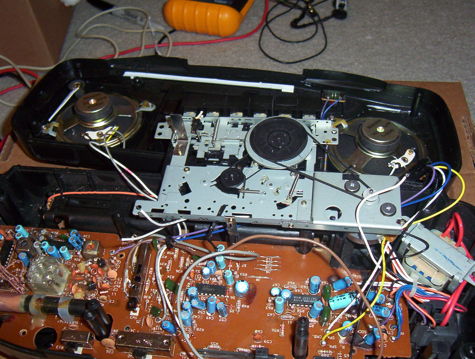 Picture of Remove the Cassette Player Mechanism