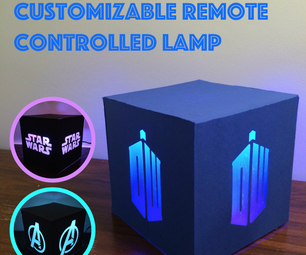Customizable Remote Controlled Lamp