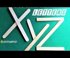 Make Popsicle Sticks Letters a to Z