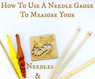 How to use a Needle Gauge to measure your Knitting Needles & Crochet Hooks!