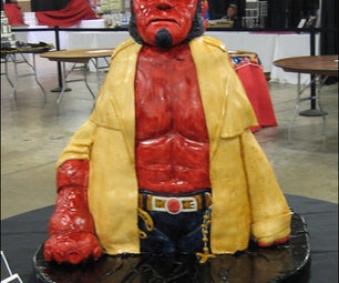 How to Make a Sculpted Hellboy Cake