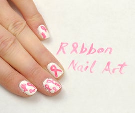 Awareness Ribbon Nail Art
