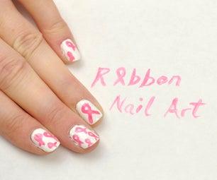 Awareness Ribbon Nail Art