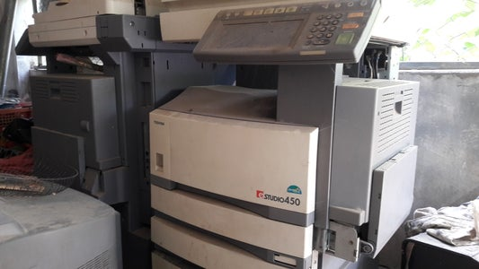Take the Motor From Old Photocopy Machine