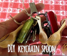 Carve Wooden Spoon for Keychain