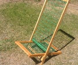 Light-weight woven lawn chair