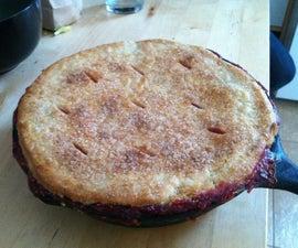 Cast Iron Peach Raspberry Pie