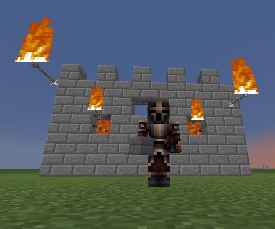 Minecraft Wall of Fire Arrows: 9 Steps