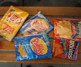 Potato chip bag pencil case