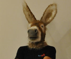 Donkey Mask with Working Mouth (face puppet)
