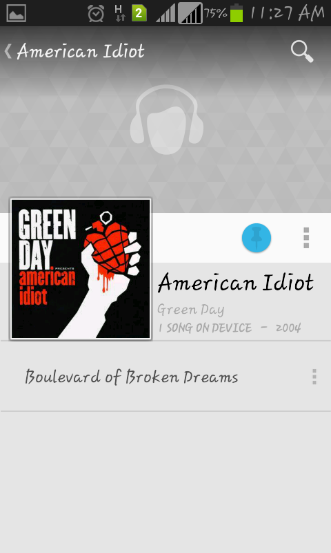 Picture of Open Google Music App.