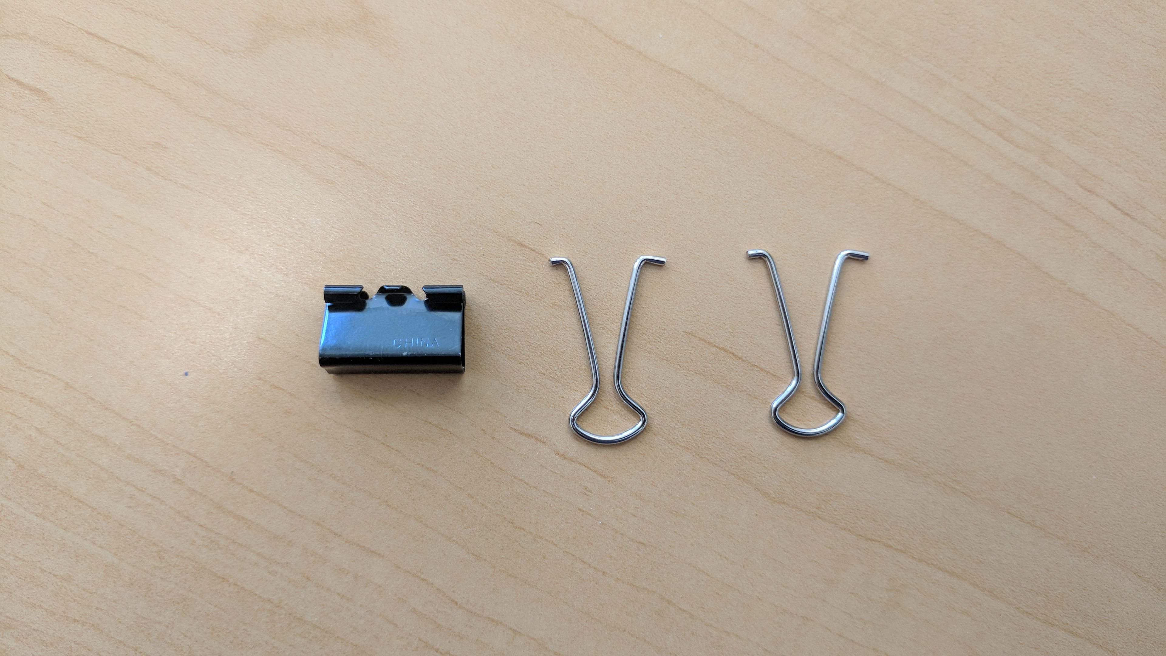 Picture of Remove Silver Handles From the Small Binder Clip