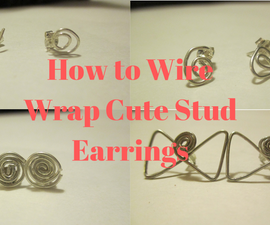 How to Make Four Wire Wrapped Stud Earrings