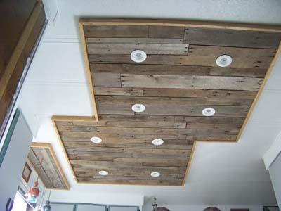 Inexpensive Kitchen Light Upgrade, Using Pallet Wood