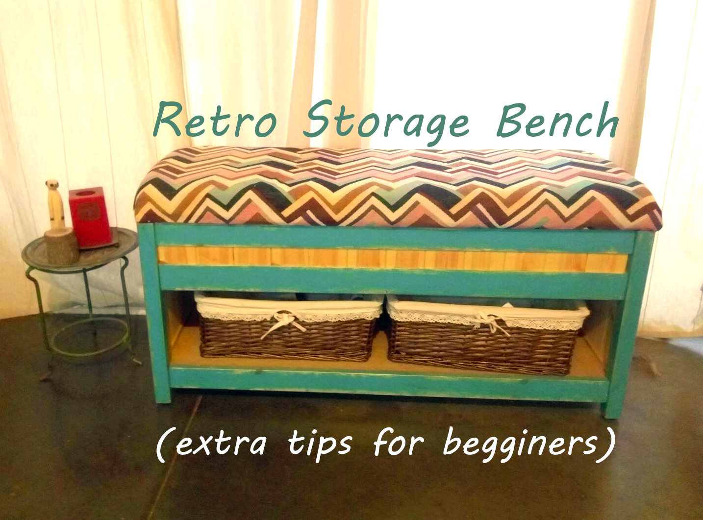Picture of Retro Storage Bench (extra Tips for First Timers)