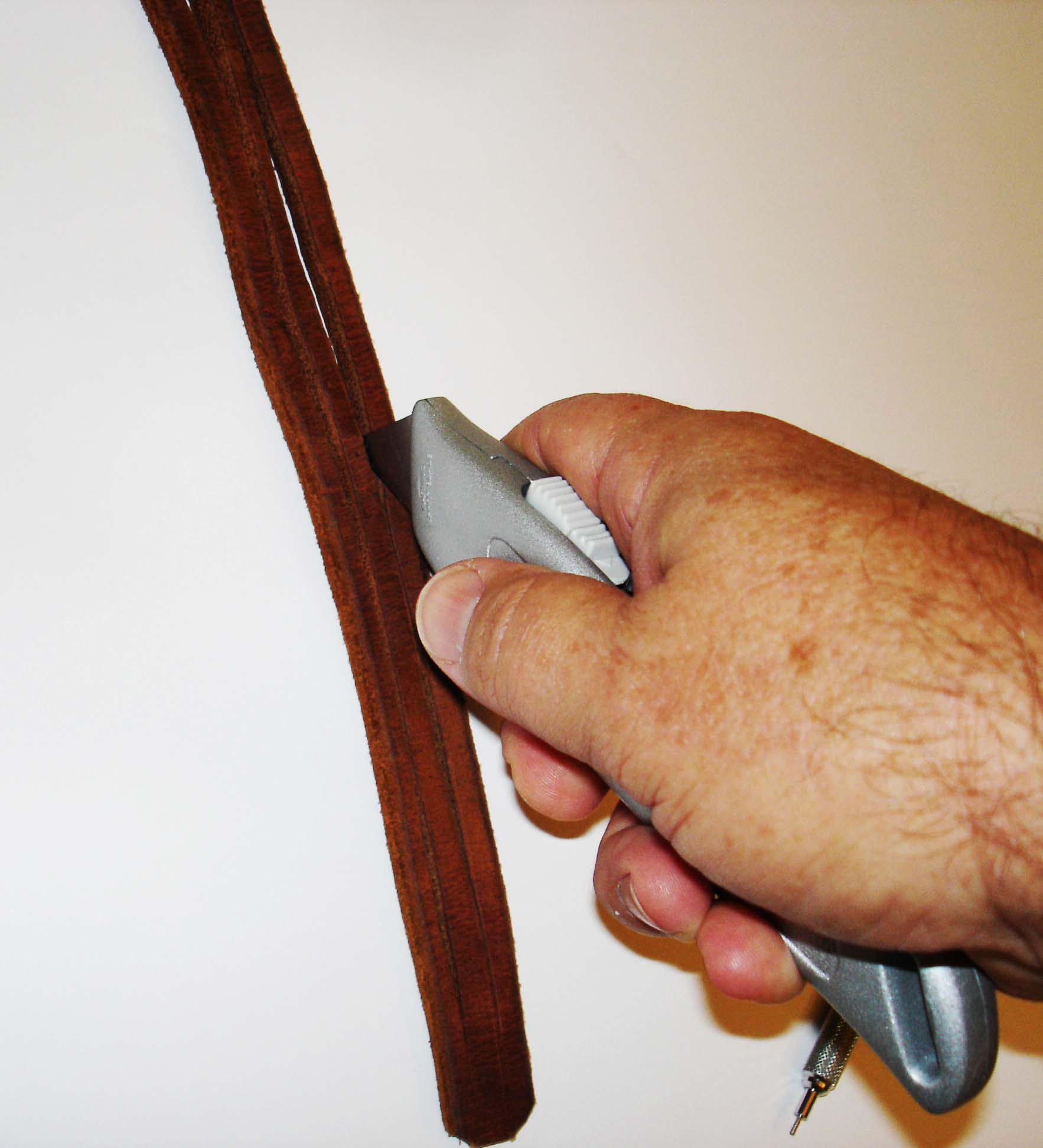 Picture of Cutting the Leather.