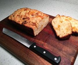 Honey Cheddar Beer Bread - Easy, Fast, No Kneading