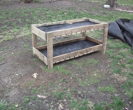 Pallet Double Flower Bed
