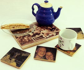 Printing colour images on to wood: Place mats & coasters
