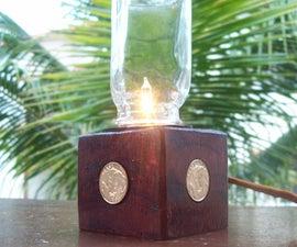 Steampunk incandescent USB lamp