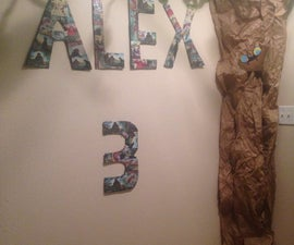 Party Themed Cardboard Letters