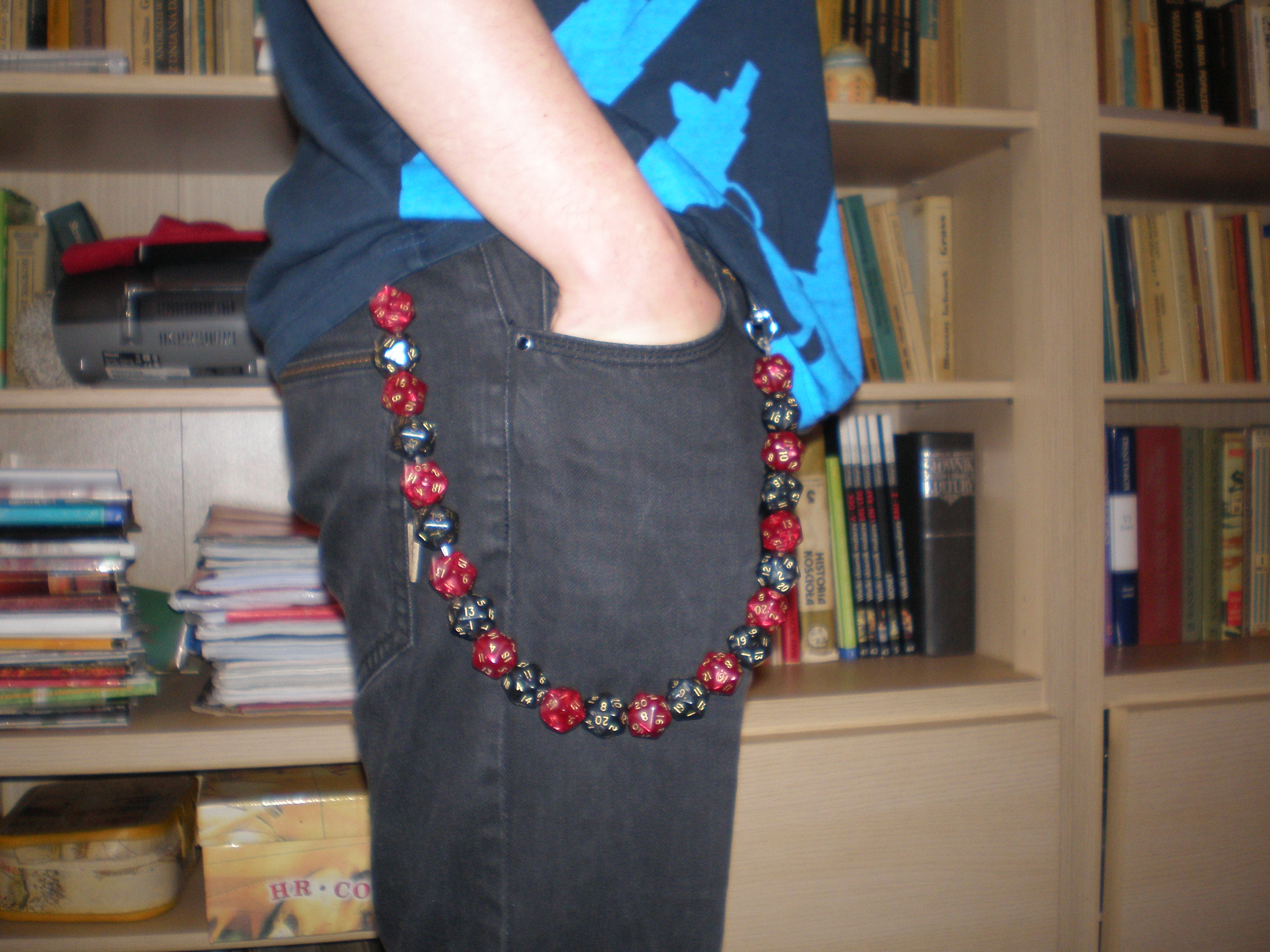 Picture of Geek Chain: Chain Made Out of D20 Dice