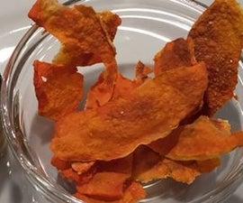 Microwave Pumpkin crisps quick n healthy