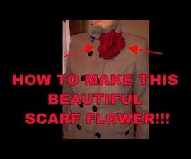 SCARF FLOWER - How to make flower using silk scarf